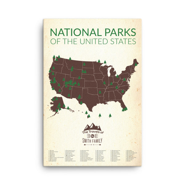 Personalized National Park Map