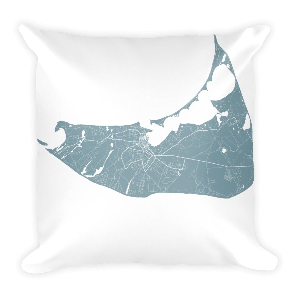 Nantucket Map Pillow – Modern Map Art