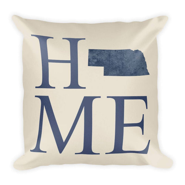 Nebraska Map Pillow – Modern Map Art