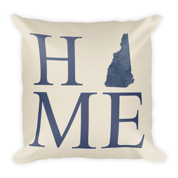New Hampshire Map Pillow – Modern Map Art