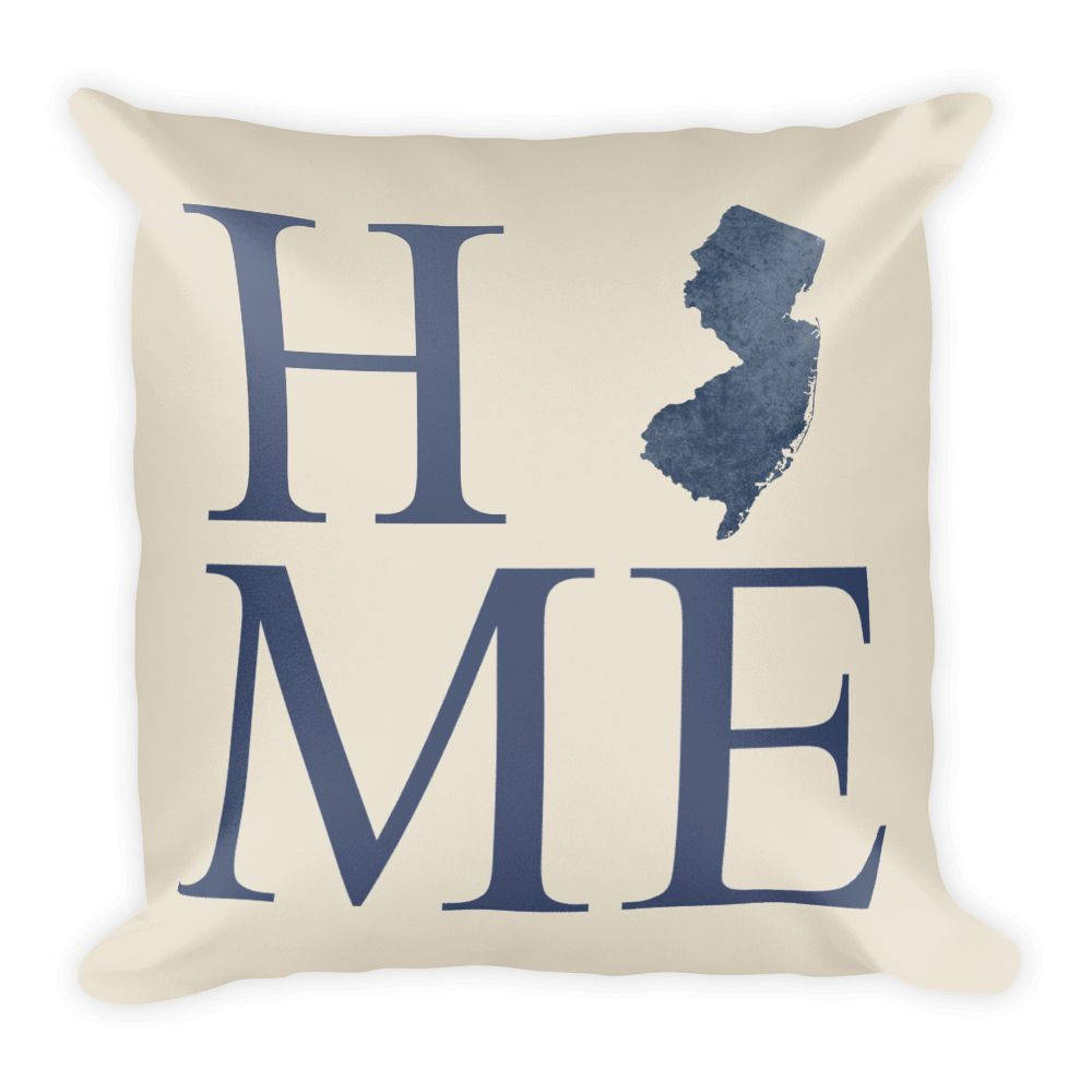 New Jersey Map Pillow – Modern Map Art