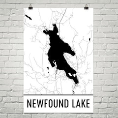 Newfound Lake NH Art and Maps