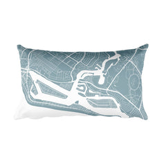 Newport Beach Map Pillow – Modern Map Art