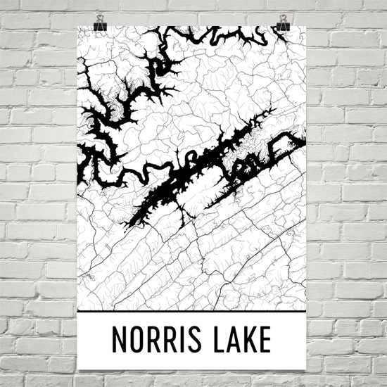 Norris Lake TN Art and Maps