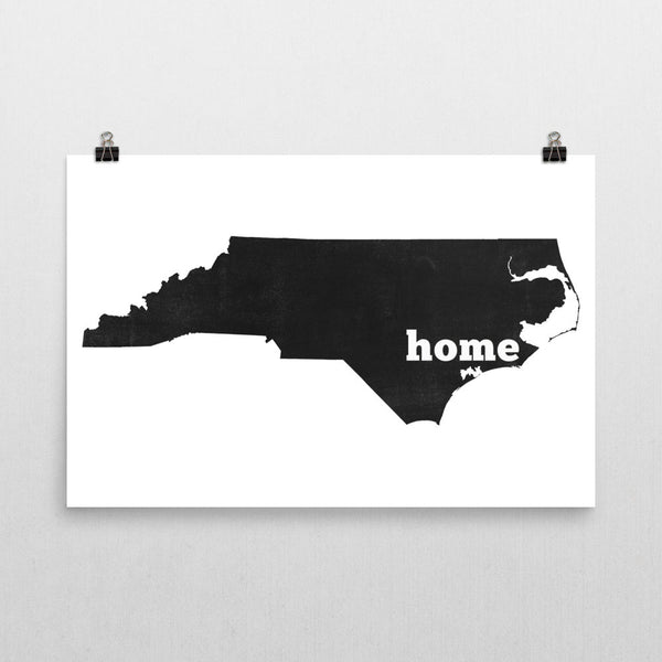 North Carolina Home State Map Art