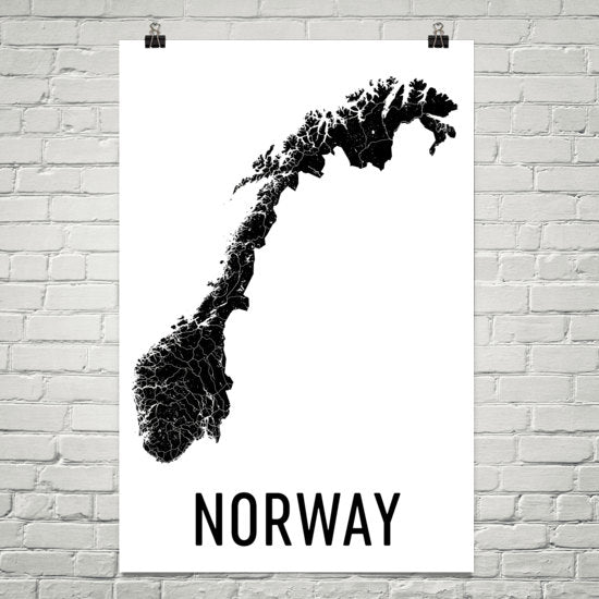 Norway Wall Map Print - Modern Map Art