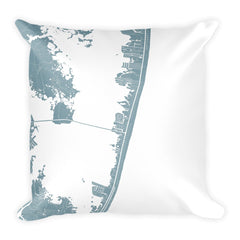 Ocean City (MD) Map Pillow – Modern Map Art