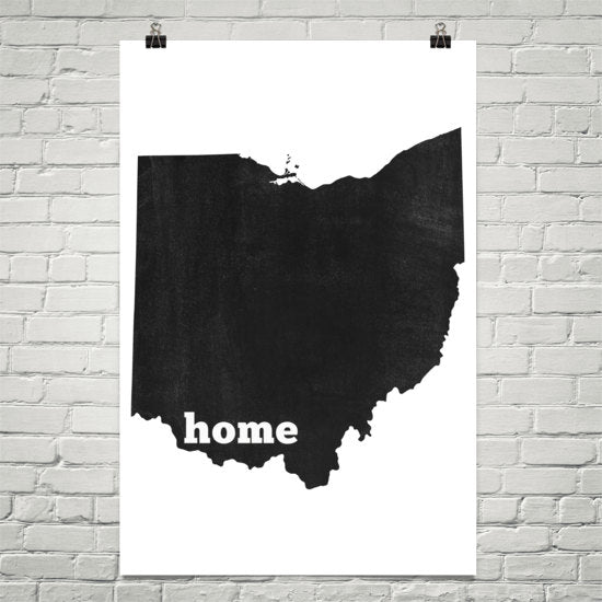 Ohio Home State Map Art