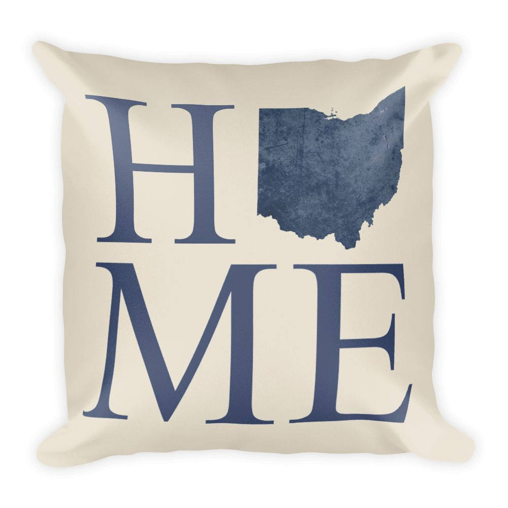 Ohio Map Pillow – Modern Map Art