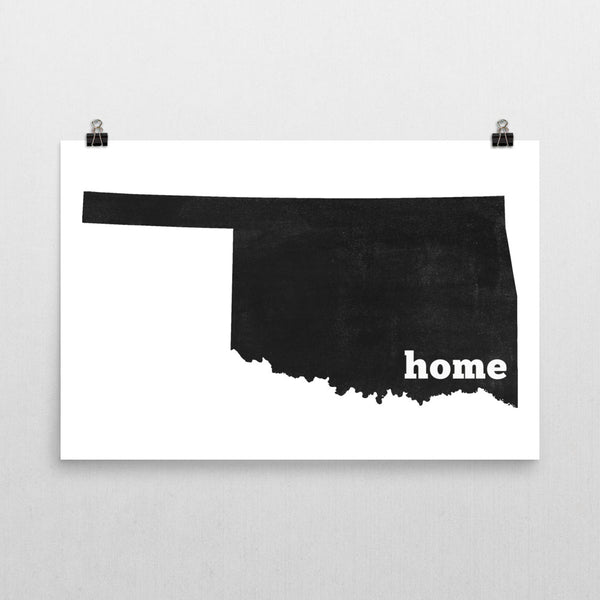 Oklahoma Home State Map Art