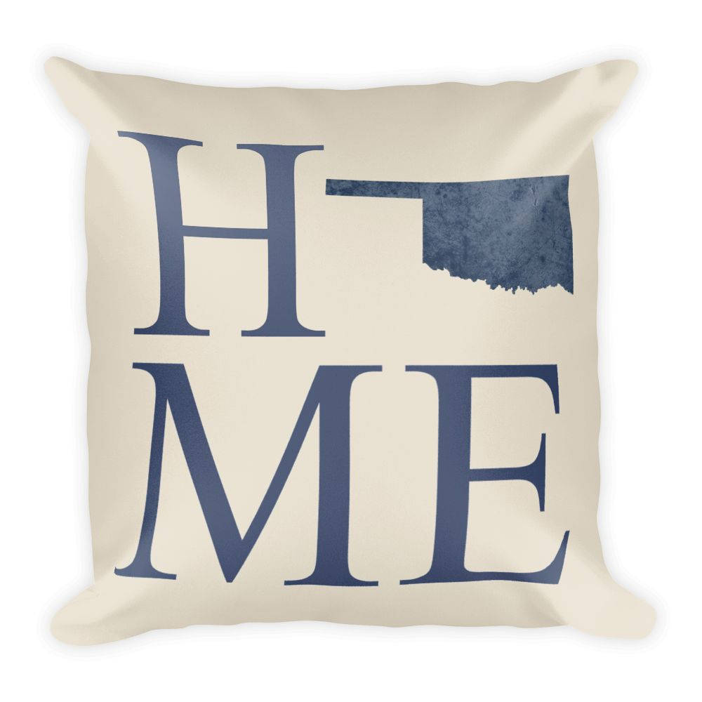 Oklahoma Map Pillow – Modern Map Art