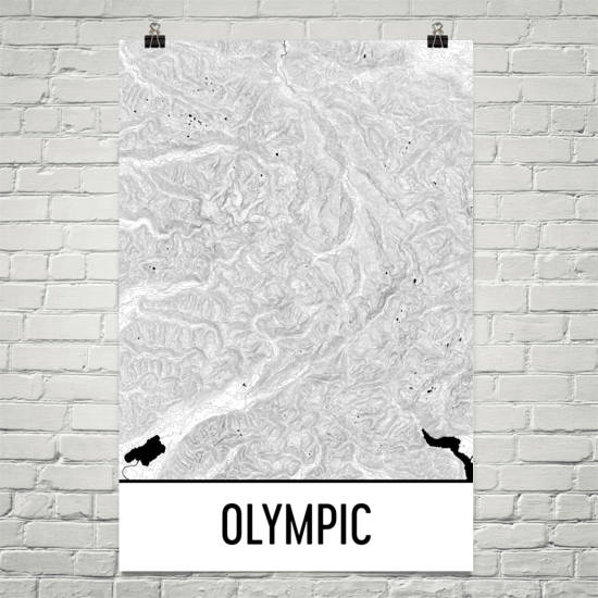 Olympic National Park Topographic Map Art