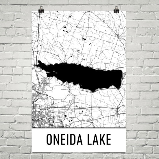 Oneida Lake Saratoga Springs Art and Maps