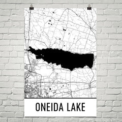 Oneida Lake NY Art and Maps