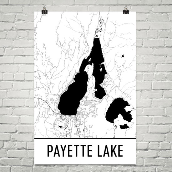 Payette Lake ID Art and Maps
