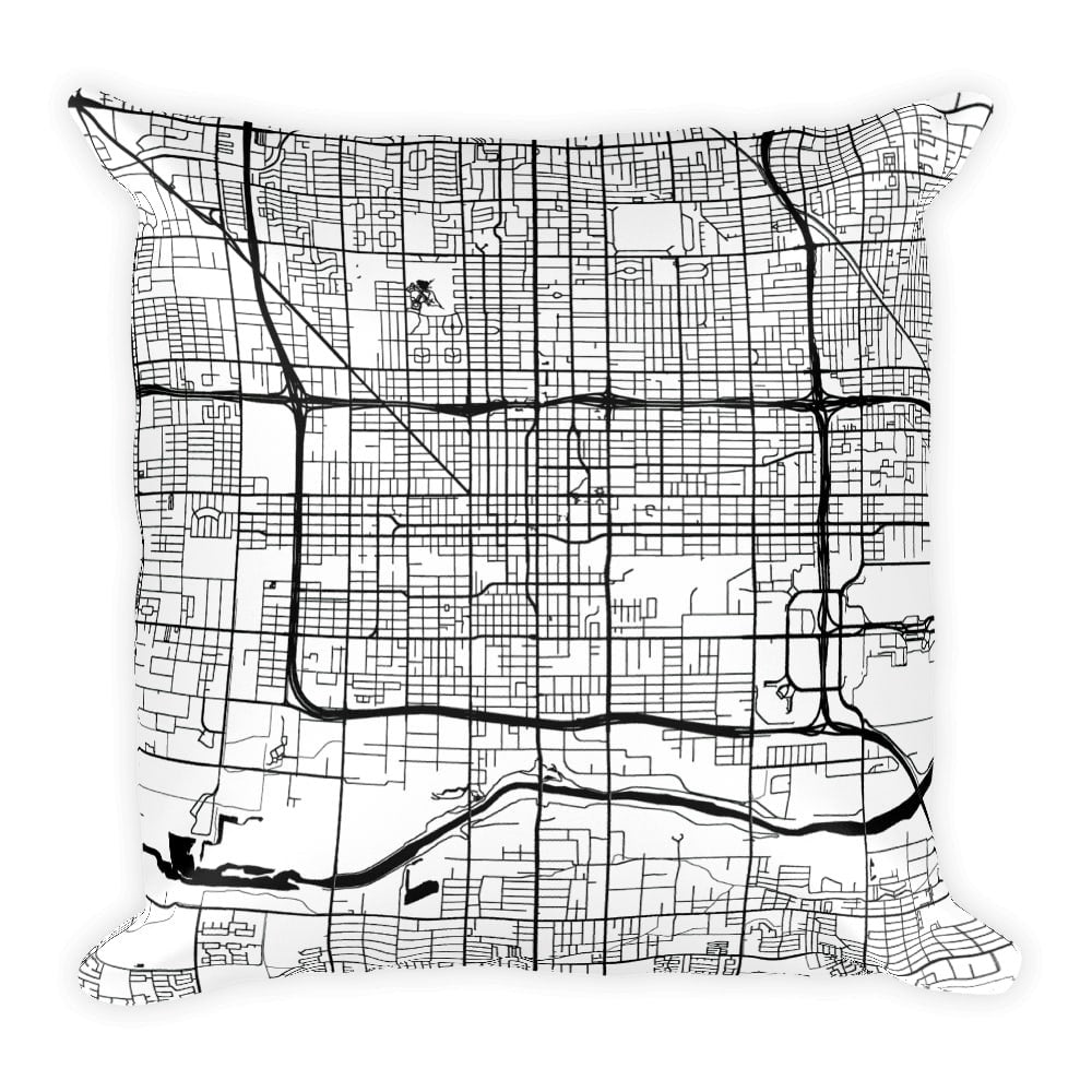 Phoenix Map Pillow – Modern Map Art