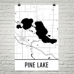 Pine Lake MN Art and Maps