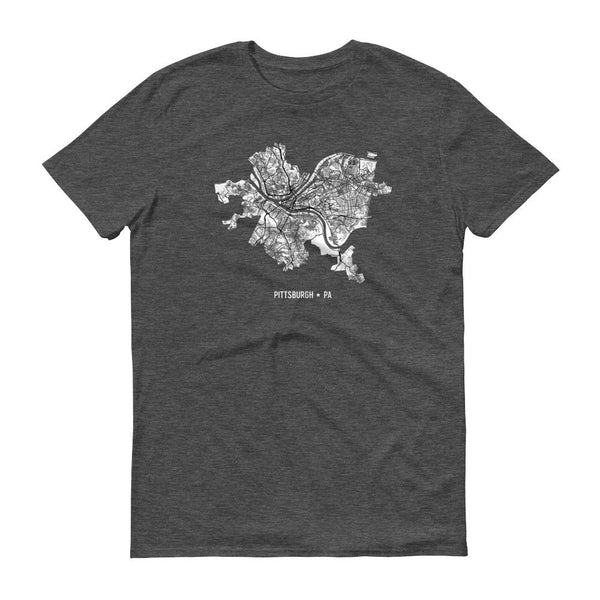 Pittsburgh Map Shirt, Pittsburgh T-Shirt - Modern Map Art