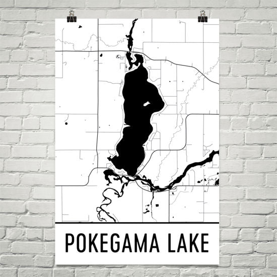 Pokegama Lake MN Art and Maps