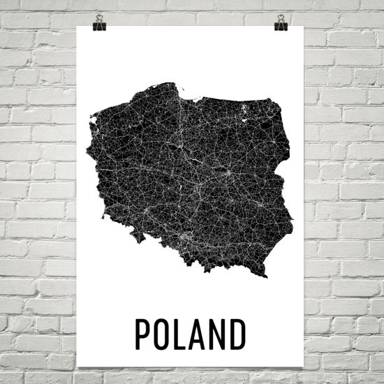 Poland Wall Map Print - Modern Map Art