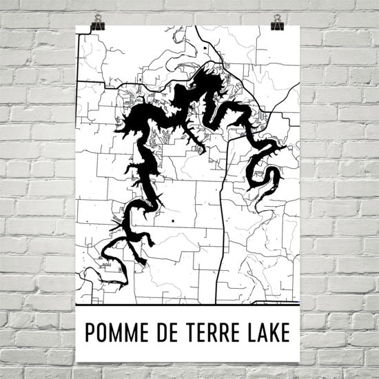 Pomme de Terre Lake MO Art and Maps
