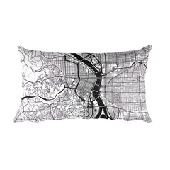 Portland (OR) Map Pillow – Modern Map Art
