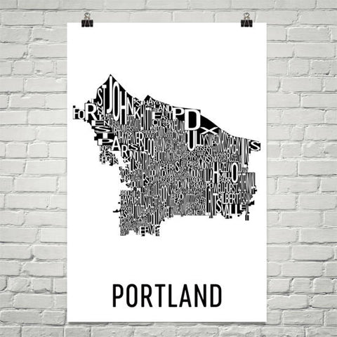 Oregon Gifts, Souvenirs, and OR Décor – Modern Map Art