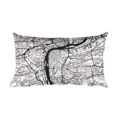 Prague Map Pillow – Modern Map Art