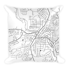 Pullman Map Pillow – Modern Map Art