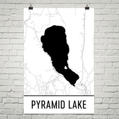 Pyramid Lake NV Art and Maps