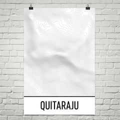 Quitaraju Topographic Map Art