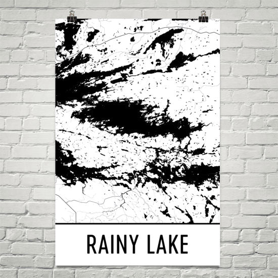 Rainy Lake MN Art and Maps