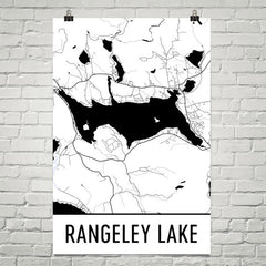 Rangeley Lake ME Art and Maps