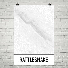 Rattlesnake Ridge Topographic Map Art