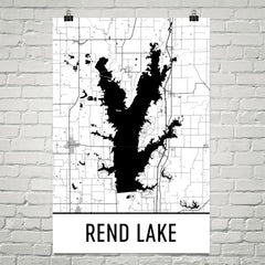 Rend Lake IL Art and Maps