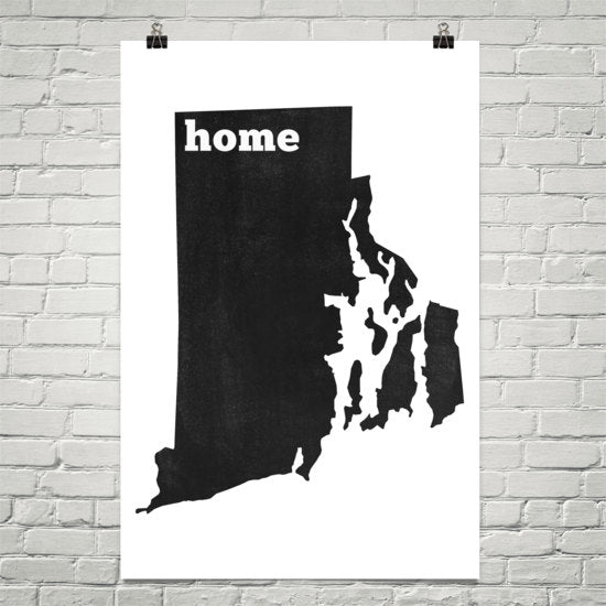 Rhode Island Home State Map Art
