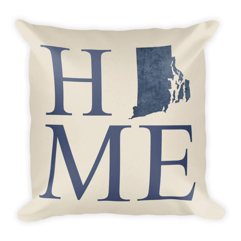 Rhode Island Map Pillow – Modern Map Art