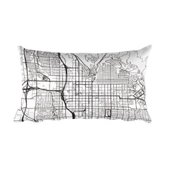 Salt Lake City Map Pillow – Modern Map Art