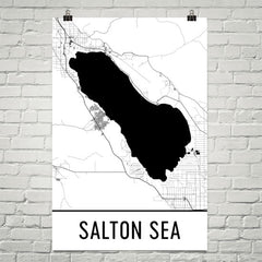 Salton Sea CA Art and Maps