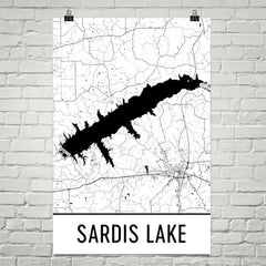 Sardis Lake MS Art and Maps