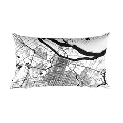Savannah Map Pillow – Modern Map Art