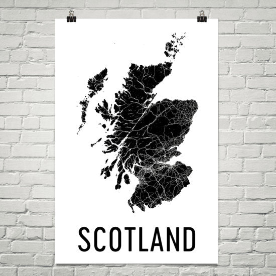 Scotland Wall Map Print - Modern Map Art