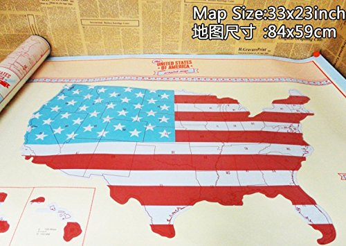 Scratch Off United States Map - Great Gift For Travelers From Modern on red usa map, folding usa map, black usa map, white usa map, gold usa map, signature usa map,