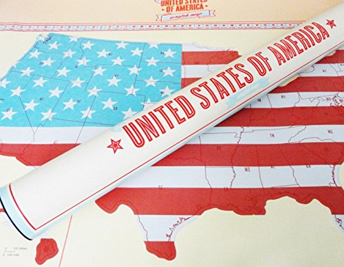 Scratch Off United States Map - Great Gift For Travelers From Modern Map Art