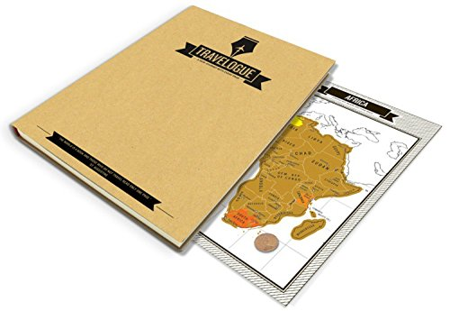Scratch Off Travel Log - World Travelogue Gift From Modern Map Art