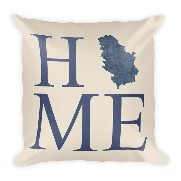 Serbia Map Pillow – Modern Map Art