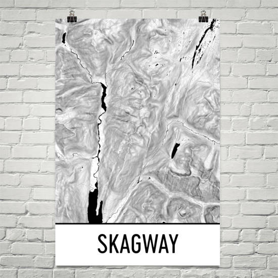 Skagway Topographic Map Art