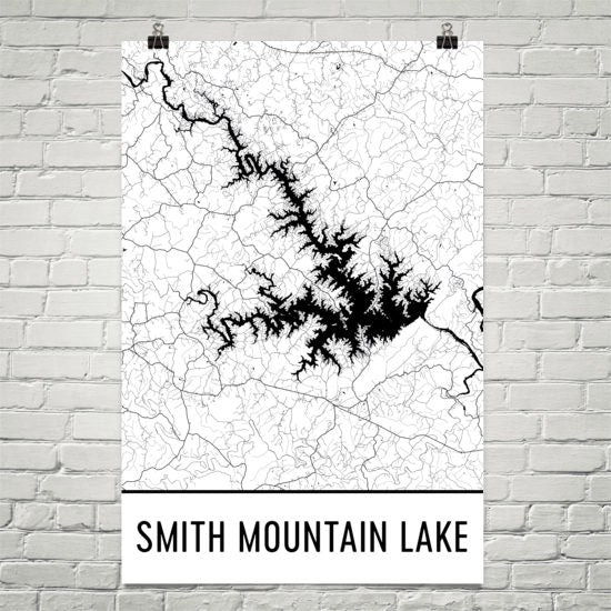 Smith Mountain Lake VA Art and Maps on