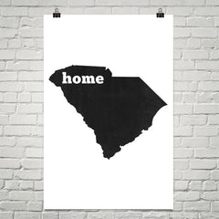 South Carolina Home State Map Art