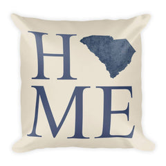 South Carolina Map Pillow – Modern Map Art